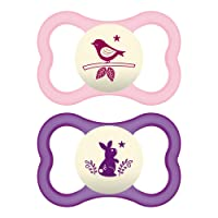 Deals on 2 Pack MAM Air Night Pacifiers