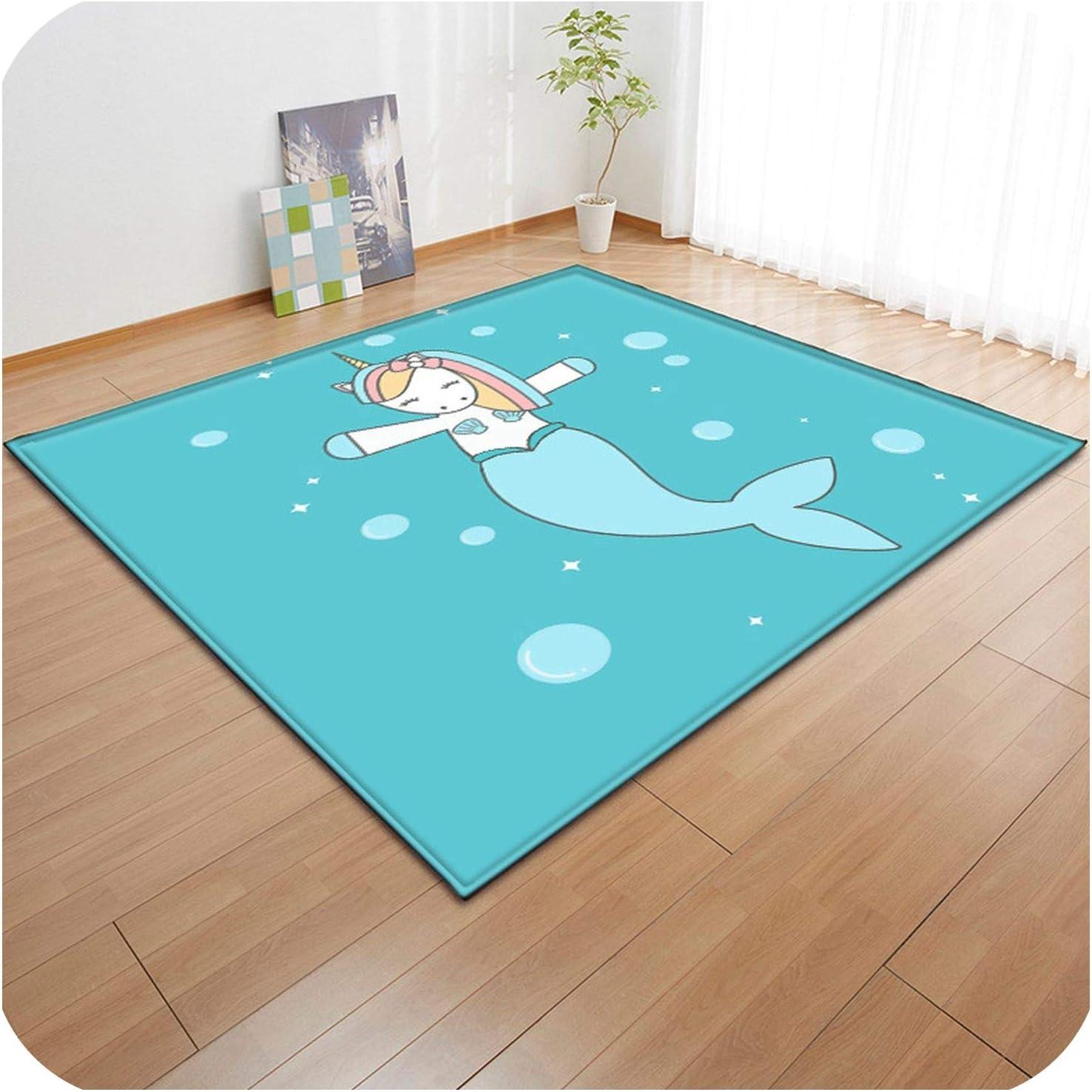 3D Non-Slip Rugs Flannel Rug Memory Foam Carpet Baby Play Crawl Mat Large Carpets for Home Living Room/Kids Girl Room Decor,09,150X200cm