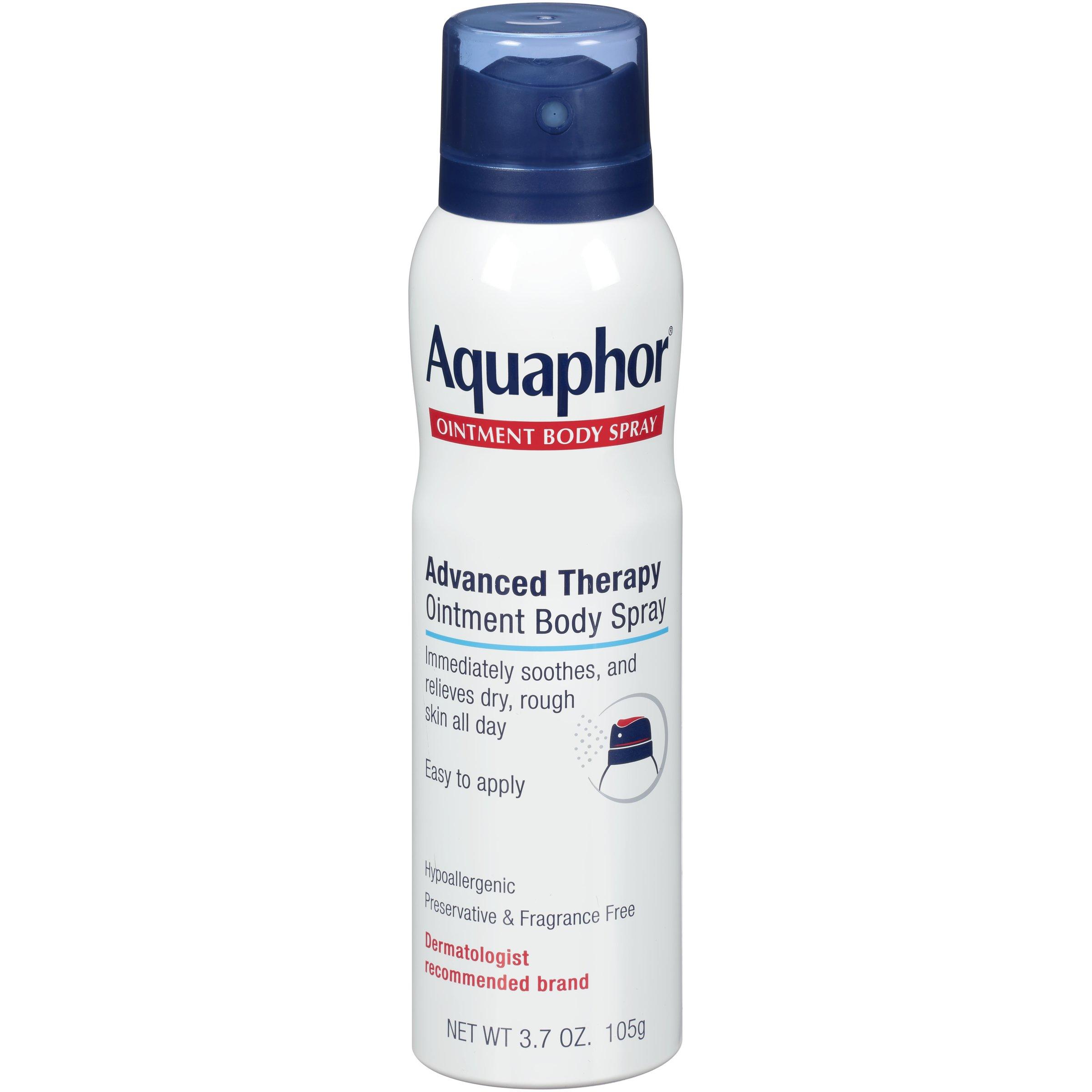 Aquaphor Ointment Body Spray - Moisturizes to Help Heal Dry, Rough Skin - 3.7 oz. Spray Can