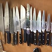 Victorinox Swiss Army Cutlery Fibrox Pro Santoku Knife, Granton Edge, 7-Inch