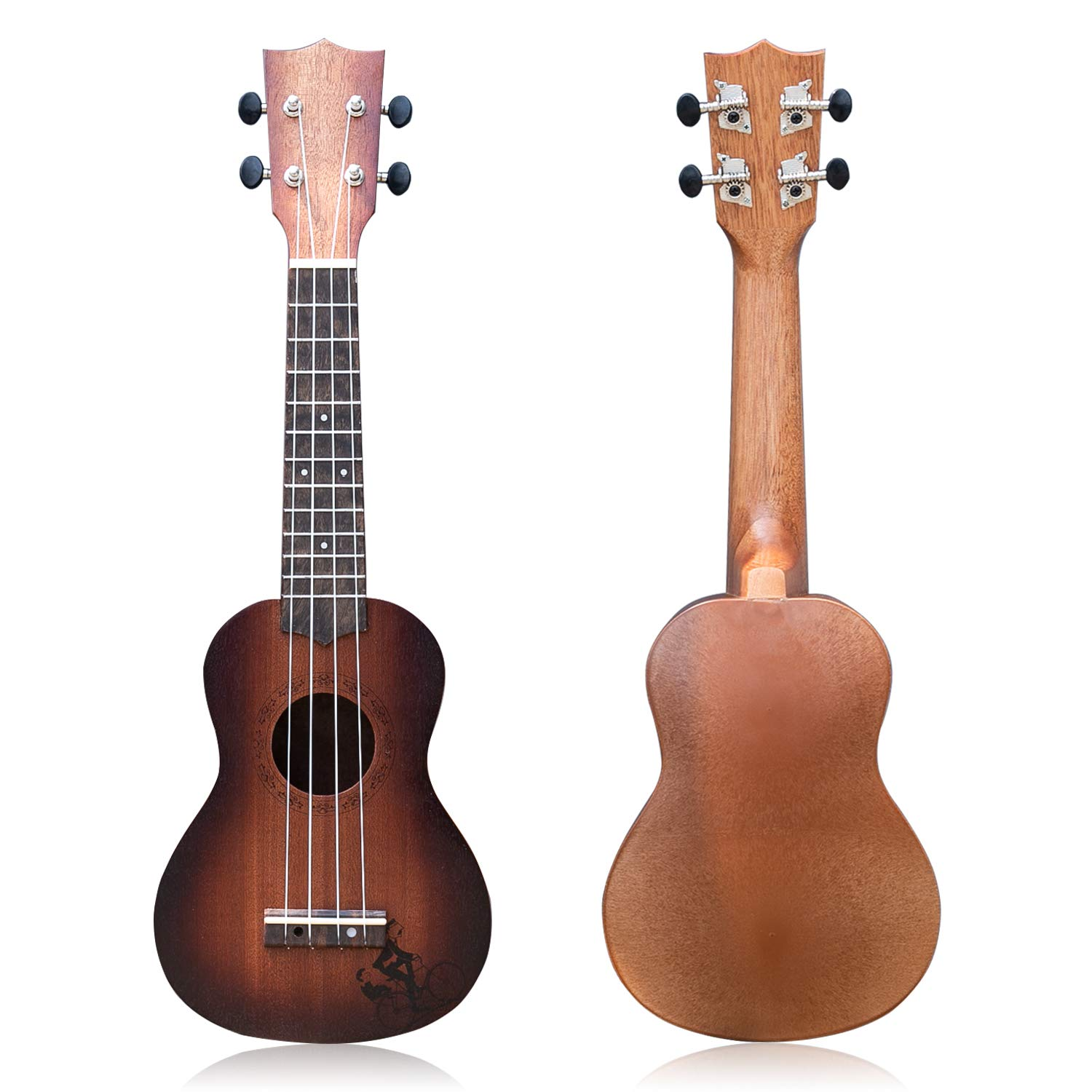 YOLOPLUS+ 21 Inch Wooden Ukulele Guitar Soprano Kid's Toy 4 Strings Musical Instruments Educational Learning with Picks Primary Tutorial Backpack for Toddler Beginner Keep Tone Anti-Impact by YOLOPLUS+
