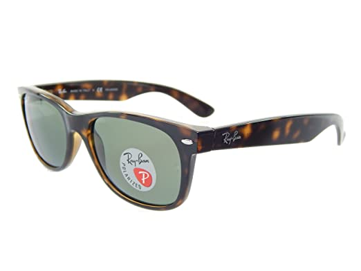 d0cf5f746d Image Unavailable. Image not available for. Color  Ray Ban Wayfarer RB2132  902 58 Havana  Crystal Green 52mm Polarized Sunglasses