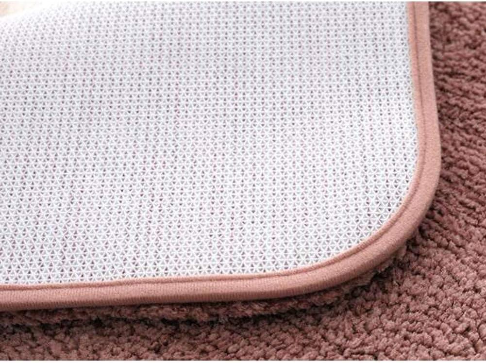 -Brown Microfibre Tapis de Salle de Bain Absorption deau Antid/érapant Coussin de Pied Rembourr/é-50x60Cm 20x24Pouces GOPG Tapis de Bain