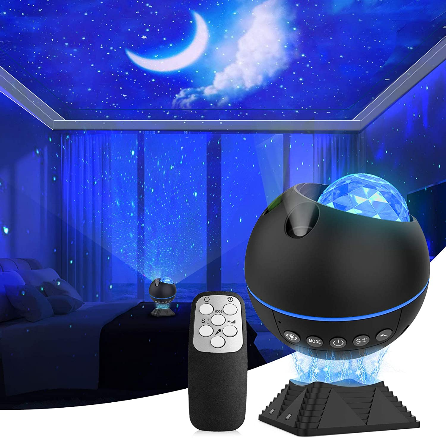 Star Projector, Galaxy Projector with Remote Control, Magnetic Base Night Light, Led Nebula Cloud Galaxy Starry Projector for Baby Kids Adult, Party/Car/Bedroom Decor for Teen Girls