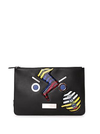 0315293753 Fendi Women s 7N0086SQFF0X93 Black Leather Clutch  Amazon.co.uk ...