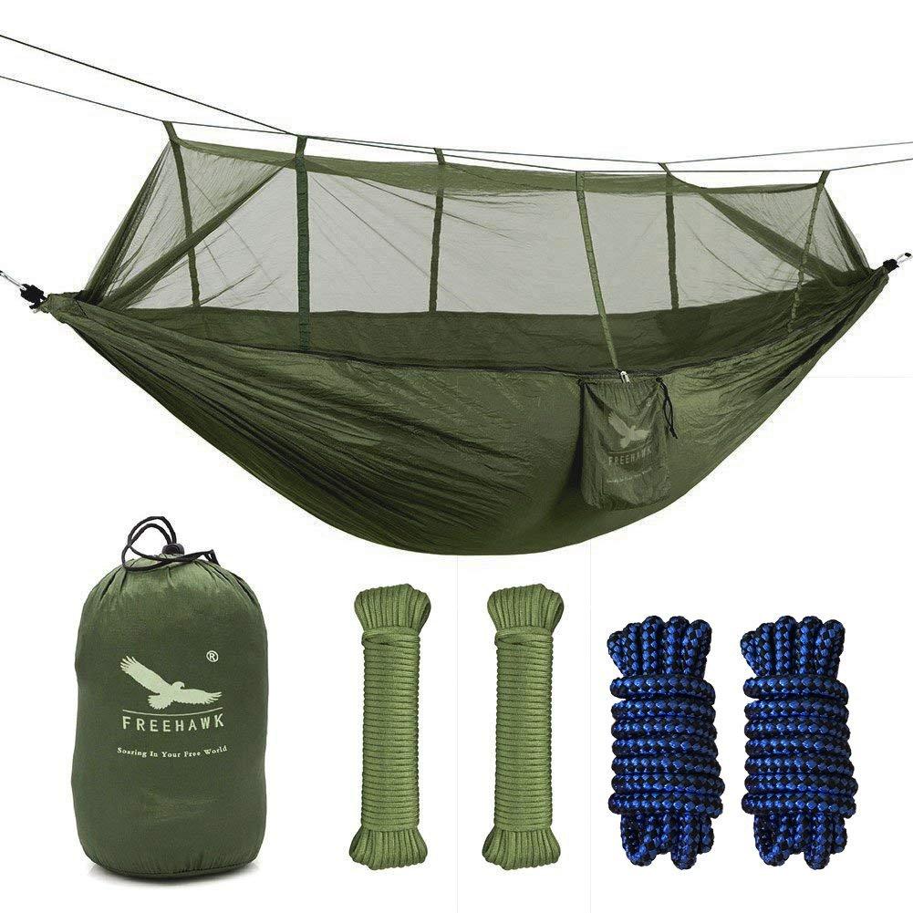 蚊帳付きキャンプハンモック、二人用ベッドテントリラクゼーション用、旅行用、外出用のベッド B01D2DM4E6