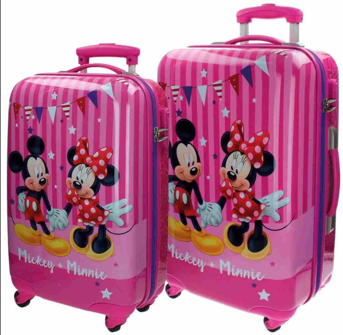 Disney Kofferset Mickey und Minnie Kindergepäck, 86 Liter, Rosa