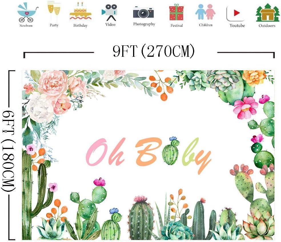 Amazon.com: DULUDA 5 x 3 pies Cactus Baby Shower telón de ...