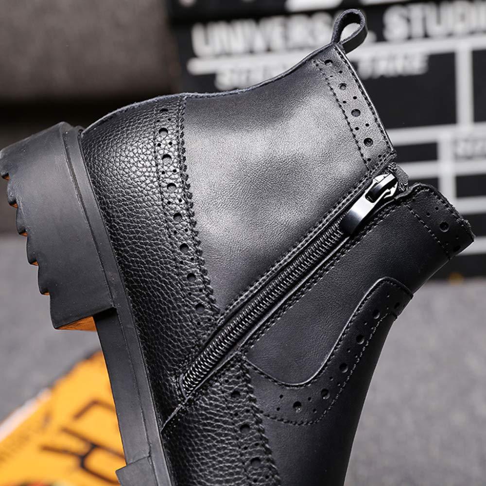 FCBDXN Botas De De De Tobillo Para Hombre Chelsea Botines De Hombre Botines Brogue Zapatos De Trabajo De Cuero Calzado Para Uso Profesional b48322