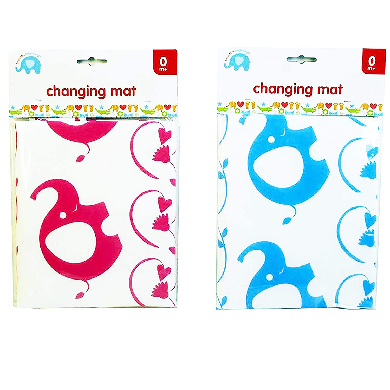 Beautiful Beginnings Wipe Clean Lightweight Fold Baby Changing Mat Blue Pink