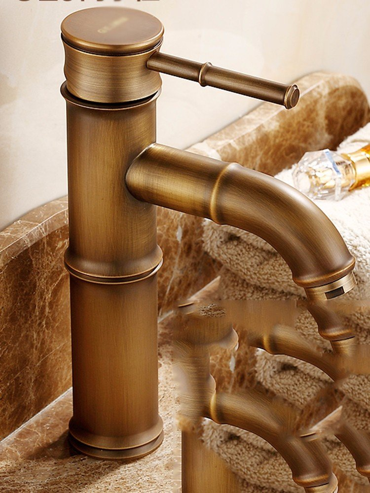 SCLOTHS Bathroom Basin Sink Mixer Tap Modern,retro,copper,hot and cold faucet,T-1396