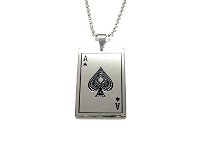Amazon ace of spades card pendant necklace jewelry ace of spades card pendant necklace aloadofball Image collections