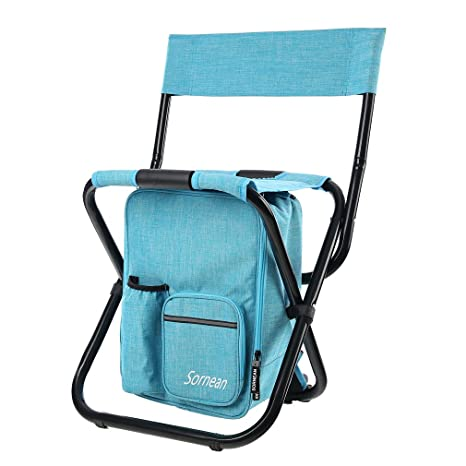 Outdoor Furniture Multi-functional Folding Backpack Folding Fishing Chair Seat Portable Garden Outdoor Camping Picnic Beach Tool High Quality Materials