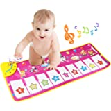 Tapis musical, BelleStyle Baby Musical Piano Tapis de jeu Tapis de jeu Musical Instrument Touch Jeu Clavier Gym Tapis de jeu pour enfants (Violet)