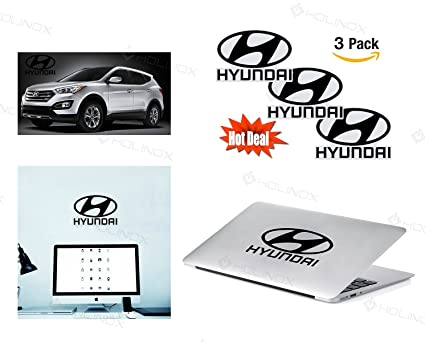 Hyundai logo stickers decal set of 3 decals high resolution superior finish and