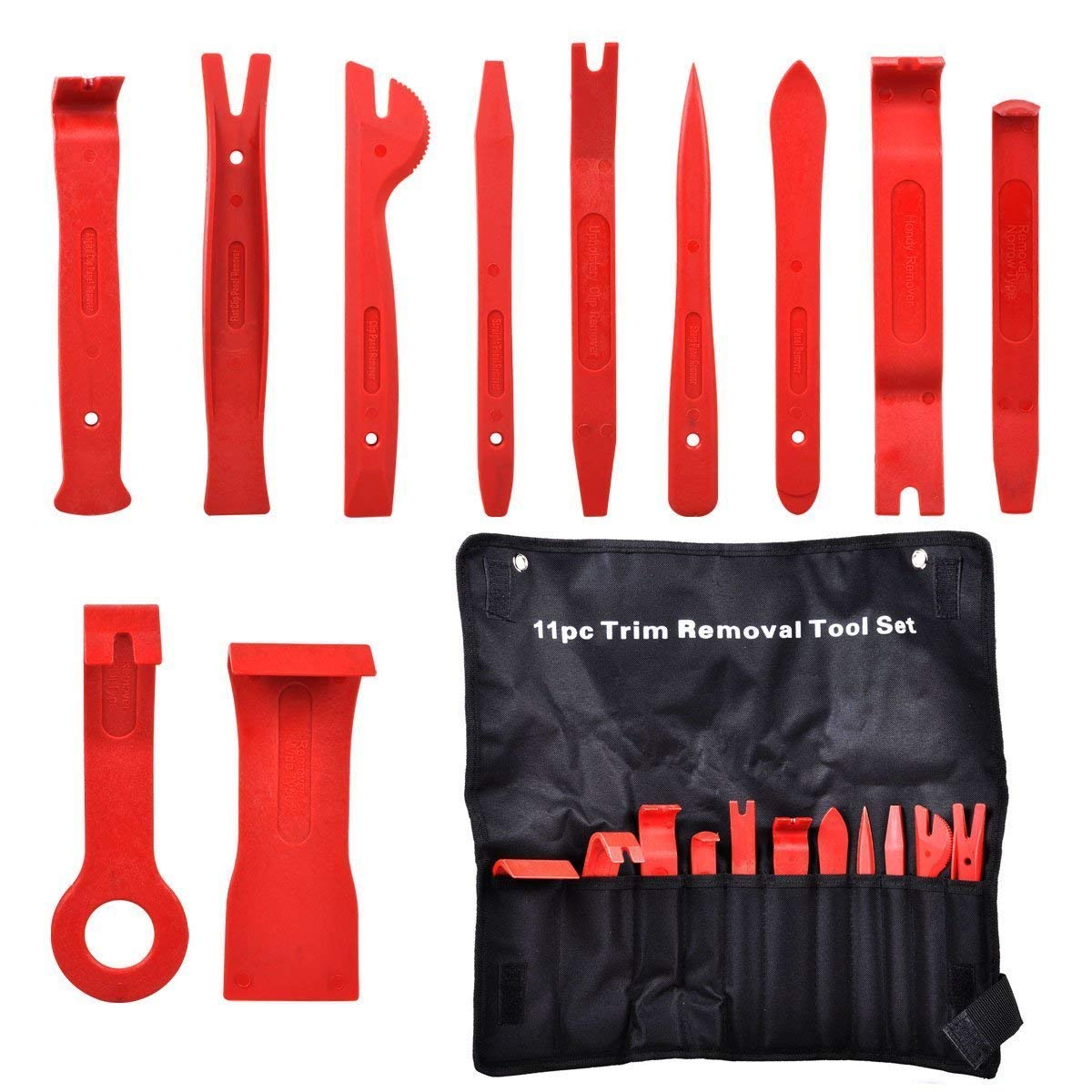 Eidoct 11 Pcs Premium Auto Trim Door Panel Window Molding Upholstery Clip Removal Tool Kit