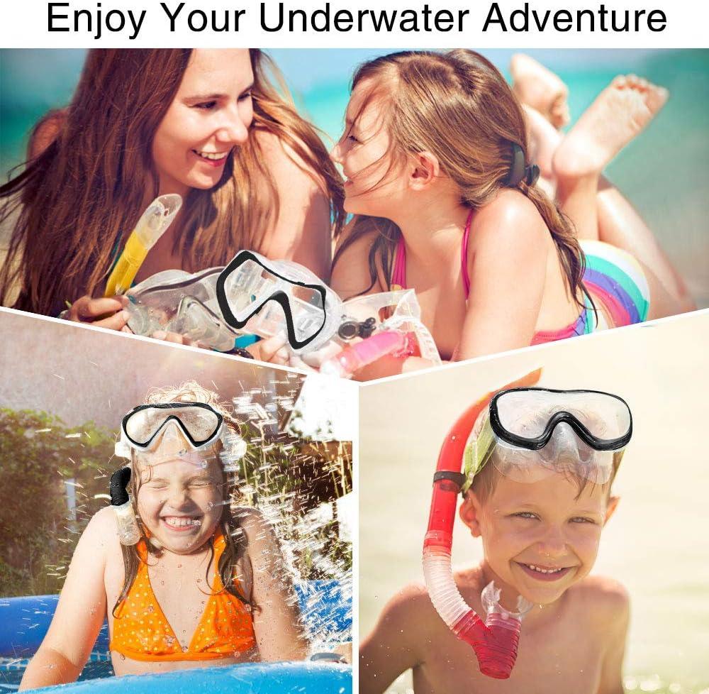 KOROSTRO Taucherbrille Kinder Geeignet f/ür 4-10 Jahre Lecksicher Wasserdicht Verstellbares Silikonband Schnorchelbrille Schwimmbrille Kindertaucherbrillen Tauchmaske UV Schutz