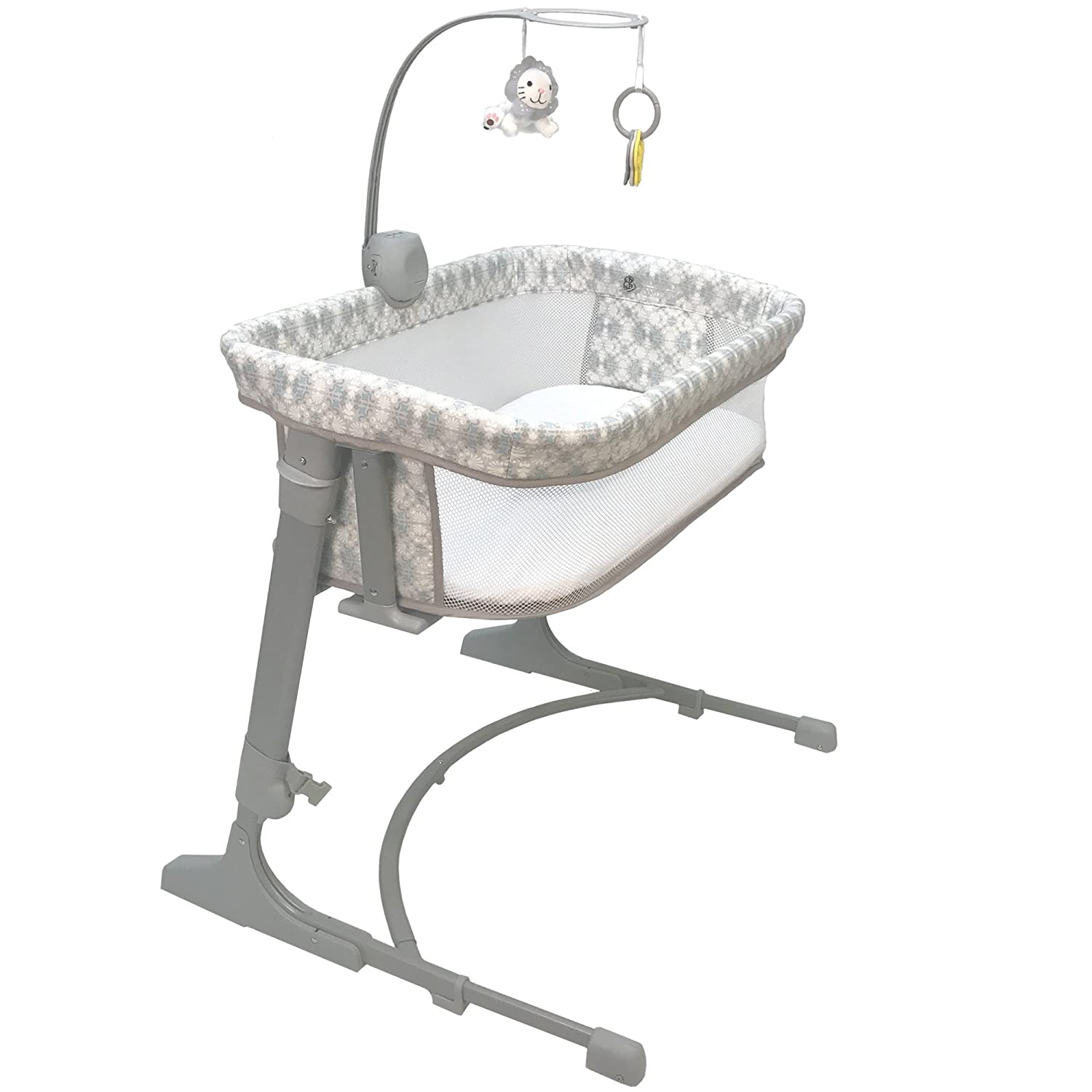 CoSleeper 7100-BL Versatile Bassinet - Bliss White/blue/grey One Size Arm' s Reach Concepts Inc.