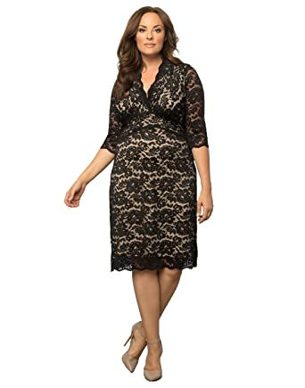 Kiyonna Womens Plus Size Scalloped Boudoir Lace Dress At Amazon
