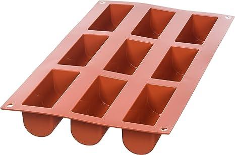 Image of SF130 Molde de Silicona 9 cavidades con Forma de Mini buche, Color Terracota