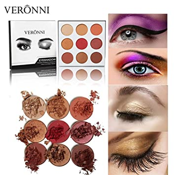 Eye Shadow Fashion Style 2019 New Professional 9 Colors Pressed Powder Eye Shadow Palette Metallic Matte Glitter Makeup Eyeshadow Palette Beauty & Health