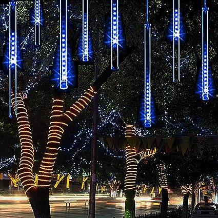 buy online beb98 da784 Alkbo Blue Color Meteor Shower Rain Lights Waterproof String for Wedding  Party Christmas Xmas Decoration Tree Party Garden Xmas String Light Outdoor  ...