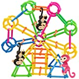 Baby Monkey Toy Stent, FanXing DIY Building Playset Interactive Baby Monkey Climbing Stand for Monkey Mia (80pc)