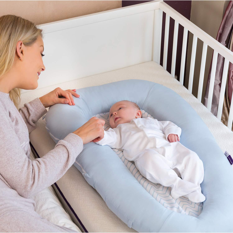 Clevamama - Reductor de Cama Nido para Bebés, Azul