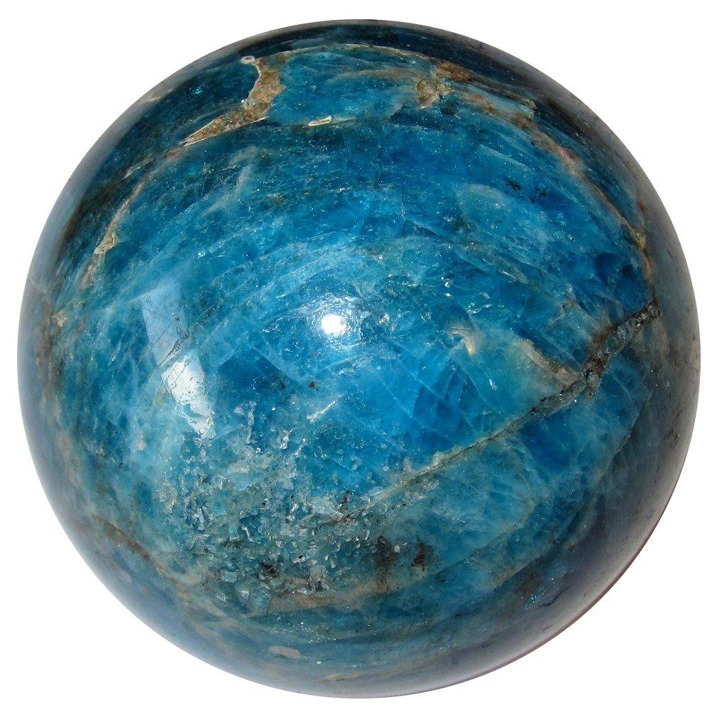 超可爱の アパタイトボール68 IntenseリッチTealブルークリスタルHealing球Weight B076P181L4 Lossエネルギーストーンマダガスカル2.1