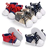 Baby Girls Boys Canvas Shoes Soft Sole Toddler