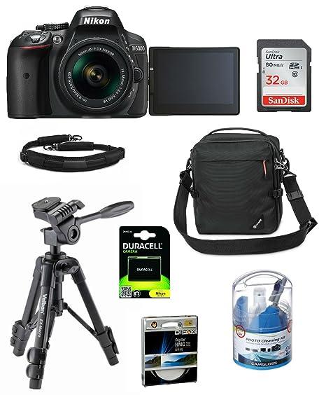 Nikon D5300 Kit Negro Bundle con AF de p 18 - 55 VR, tarjeta de ...