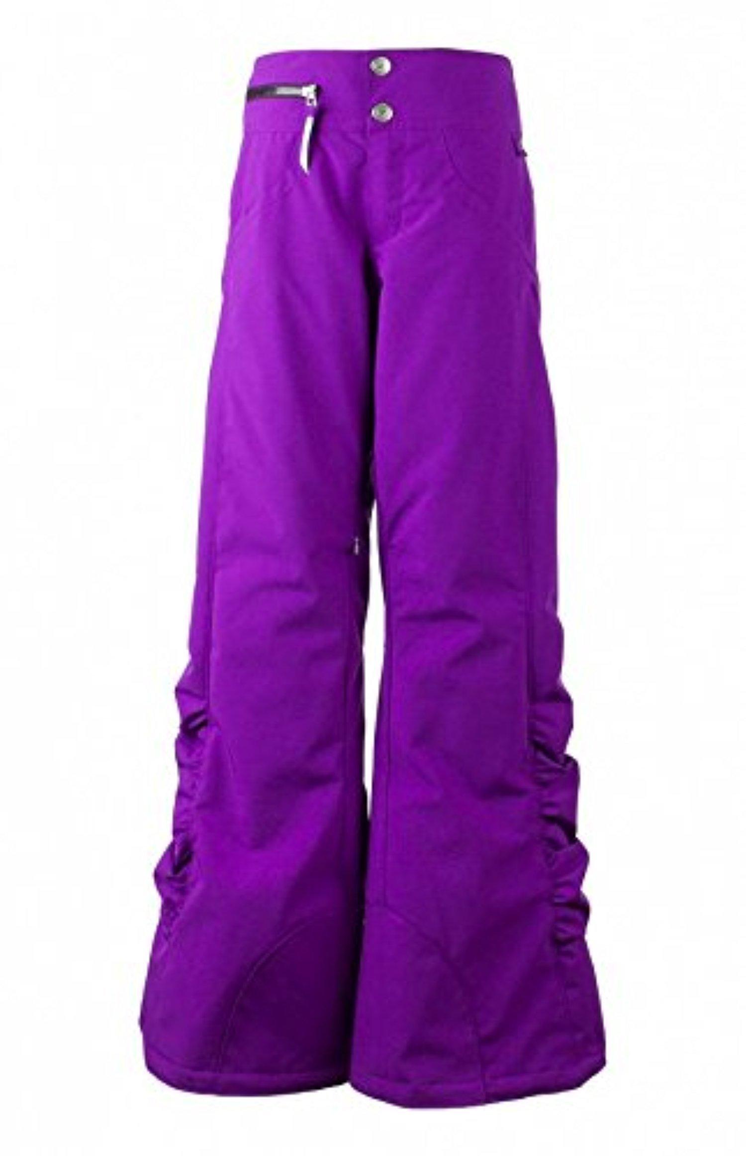 Obermeyer Teen Girls Jessi Pant Violet Vibe XL & E-tip Glove Bundle