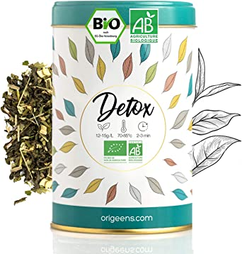 TE DETOX BIO 125g - Té suelto a base de té verde y mate certificado  biológico - Tratamiento detox adelgazante 30 días: Amazon.es: Alimentación  y bebidas