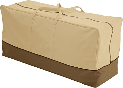 Classic Accessories 78982 Veranda Water-Resistant 45.5 Inch Patio Cushion and Cover Storage Bag,Pebble,Standard