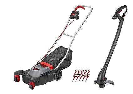 Skil 0074AA - Cortacésped eléctrico y juego de cortabordes (ruedas pivotantes, ligero: 4