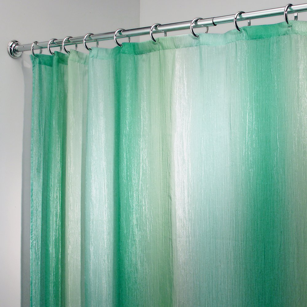 ombre shower curtain blue green ombre fabric shower curtain by interdesign 30442