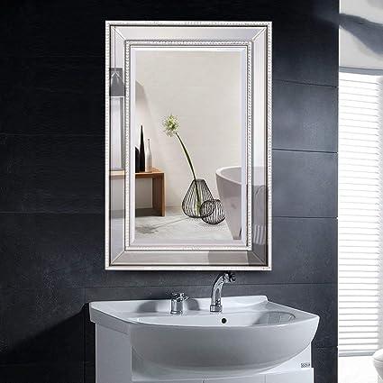 Amazon Com Tangkula 24 X 36 Wall Mirror Wall Mounted Wood Frame