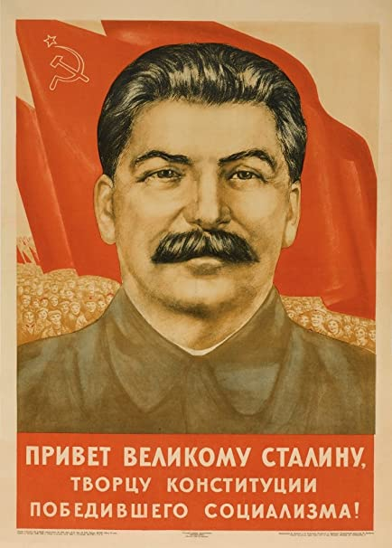 Vintage Russian And Soviet Union Propaganda GREETINGS TO THE GREAT STALIN1939 250gsm Gloss