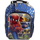 """Marvel Avengers Age of Ultron Backpack 16"""" Full-Size with Spiderman, Iron Man, Captain America, Wolverine & Hulk"""