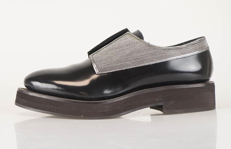 d127fefa484a0 Amazon.com : Brunello Cucinelli Black Patent Leather Women's Loafers ...