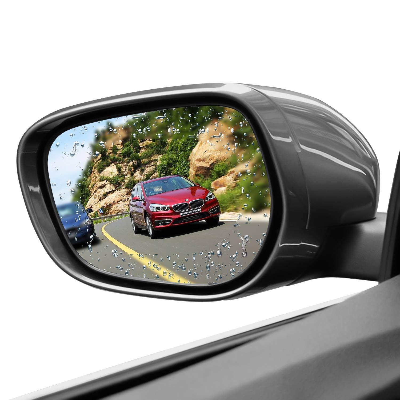 WEIKAI LIMITED Car Rearview Mirror Film,2PCS Side Window Rainproof Film,Automobile Side View Glass Anti-Fog,Anti-Glare Film,Rear View Mirror Window Clear Nano Film