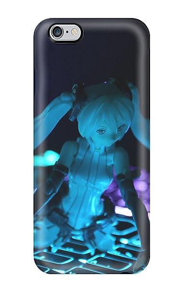 Nueva onlyyoucase Anime Miku Vocaloid azul teclado figura funda/iphone 6 funda (3D PC