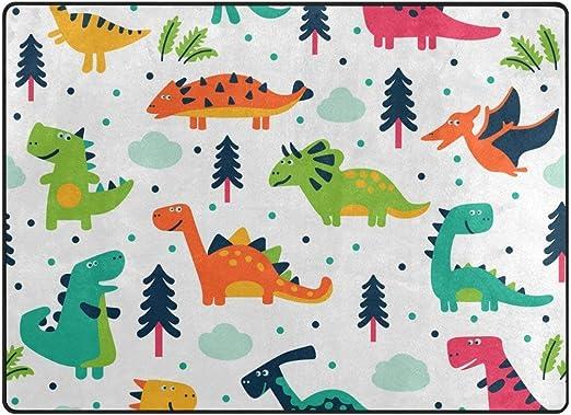 Nice Guy Area Alfombra Suave Dinosaurios Lindos Alfombra De Dibujos Animados Dormitorio Solido Decorador De Hogar Alfombras De Piso 36x24 Pulgadas Amazon Es Hogar Juguete dinosaurio 12 dinosaurios espantacuco fluorescentes. amazon es