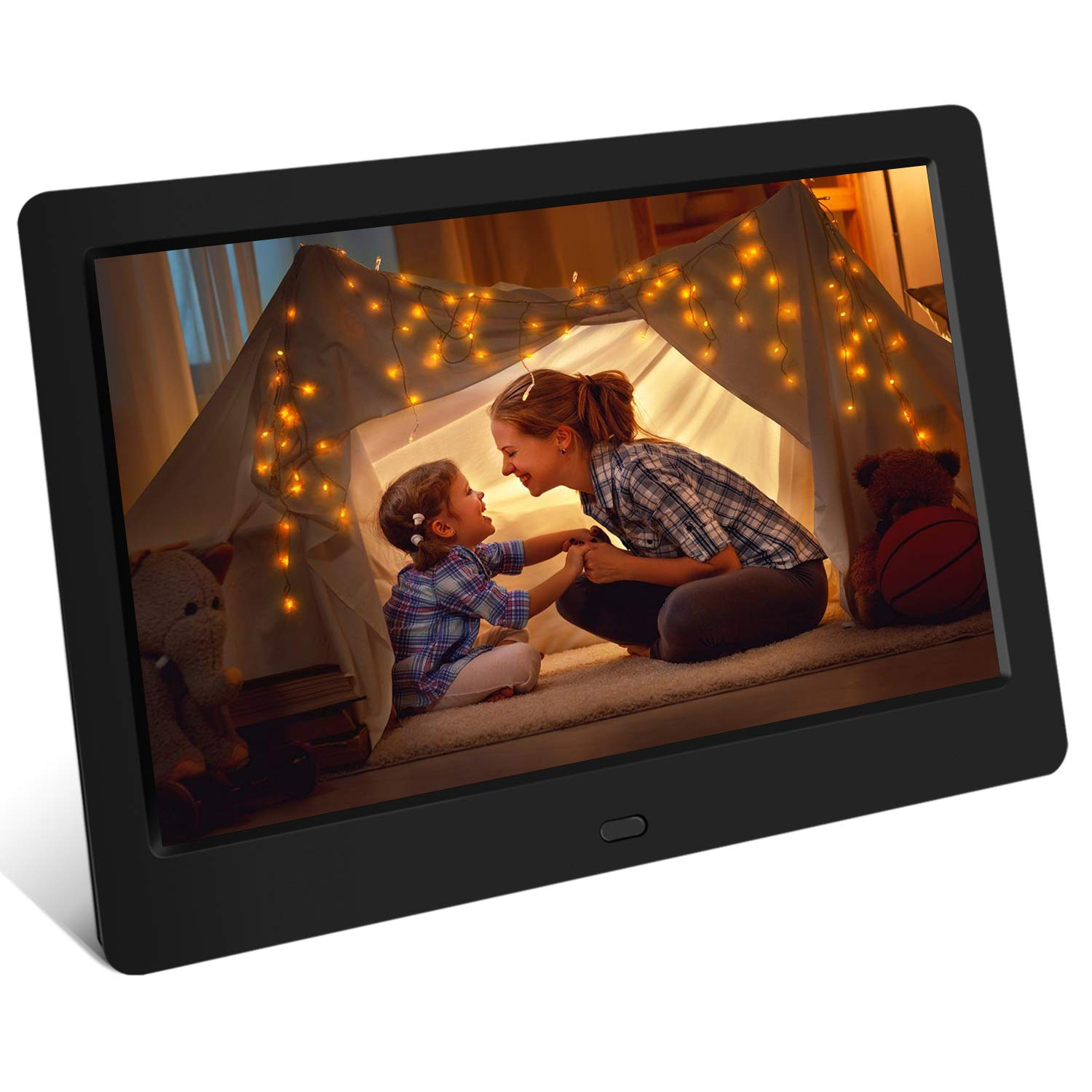 Tenswall Digital Photo Frame 7 Inch HD 1024x600, Digital Picture Frame Full IPS Display Photo/Music/Video/Calendar/Time, Auto On/Off Timer, Support USB Drives/SD Card,Remote Control by Tenswall