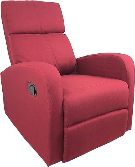 Poltrona Relax Reclinabile Confort Imbottita in Ecopelle Marrone Comoda da Interno per Anziani