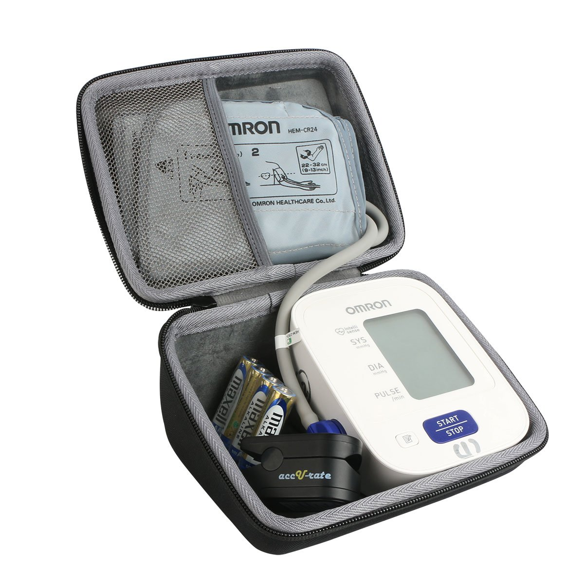 Hard Travel Case for Omron 3 Series Upper Arm Blood Pressure Monitor BP710N by Co2CREA