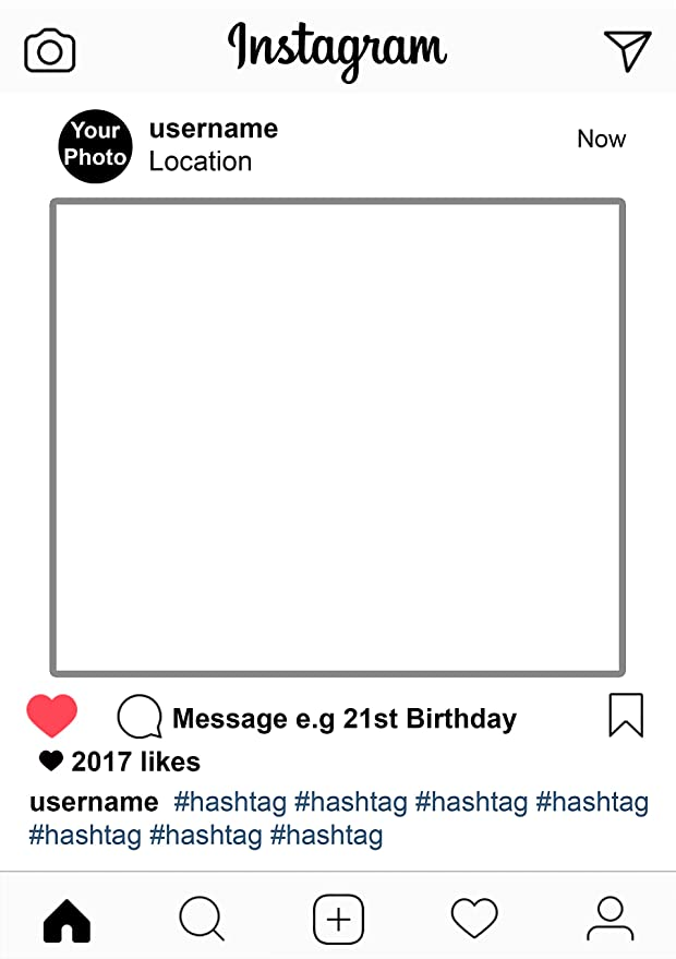 Nuevo estilo personalizado Instagram social media Party selfie fotos decorativos para A1: Amazon.es: Hogar