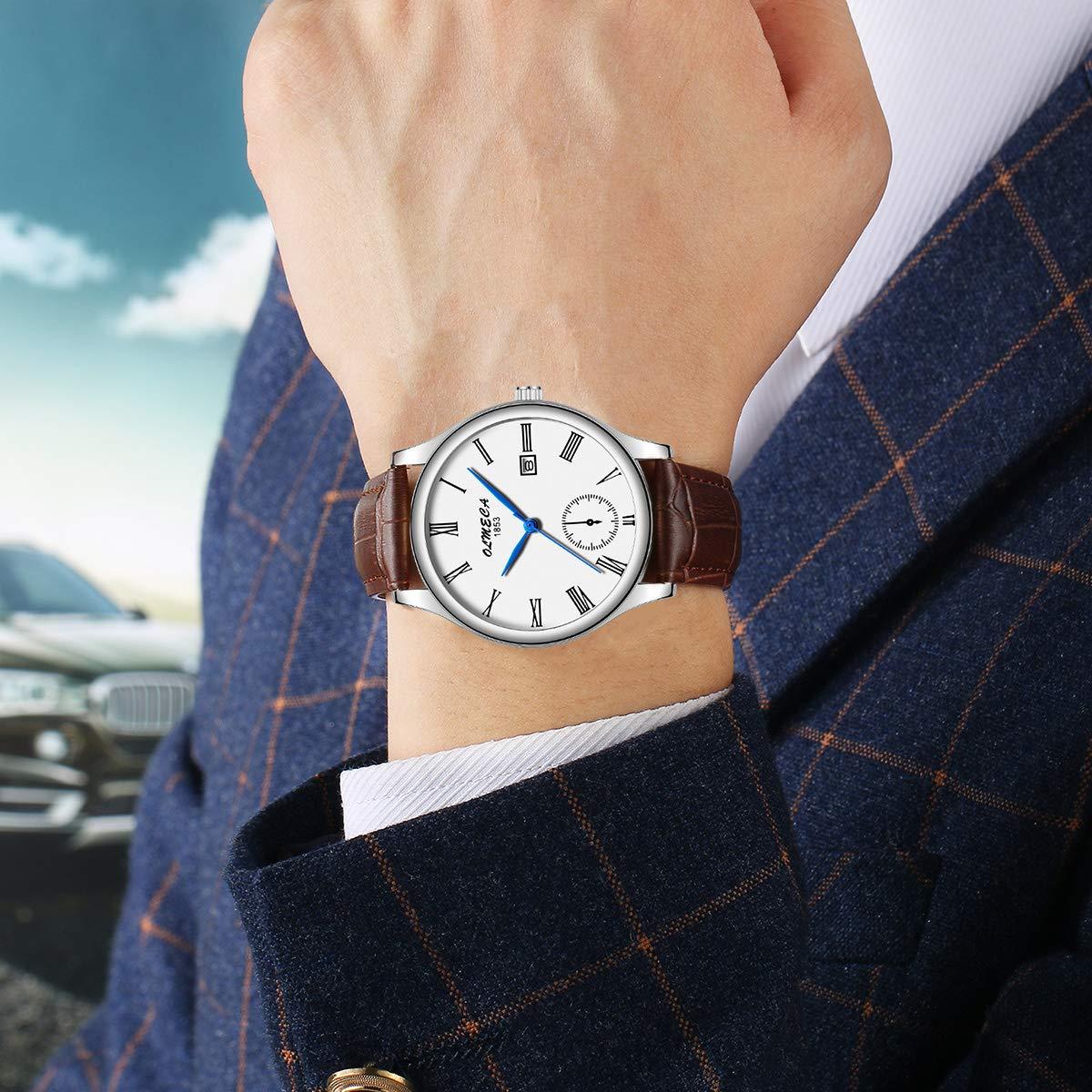 Amazon.com: OLMECA Mens Watches Luxury Wristwatches Rhinestone Watches Waterproof Fashion Quartz Watches Women Watch Stainless Steel Watch 758M-GKBMZpd: ...