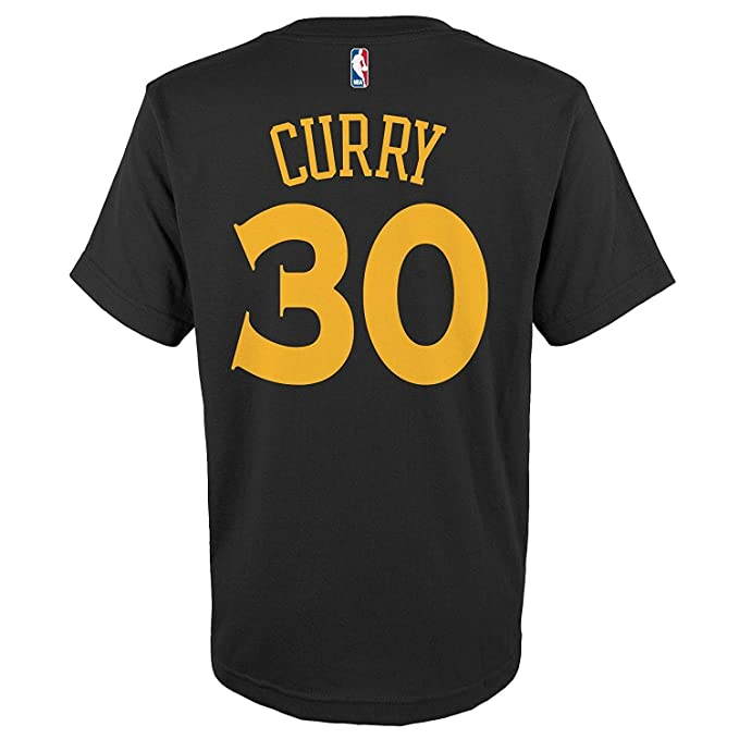 pretty nice dde7a a3220 Stephen Curry Golden State Warriors #30 Black Toddler Alternate Name and  Number T Shirt