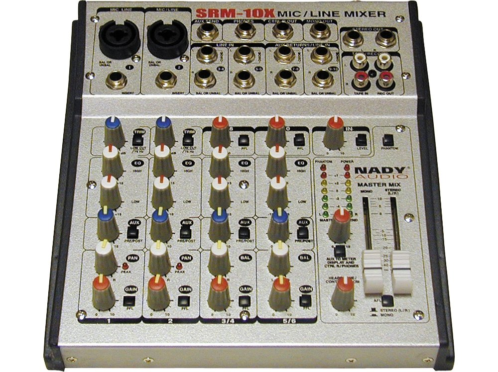 Nady SRM-10X 10-CHANNEL Compact Stereo Mic/line Mixer Nady CA 292064